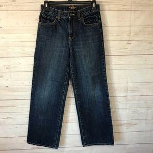 Old Navy boys dark wash jeans, 14 R